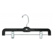 "14"" Black Plastic Skirt and Pant Hangers (100-pack)"