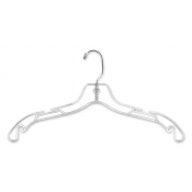 "17"" Clear Plastic Dress Hangers (100-pack)"