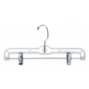 "14"" Clear Plastic Skirt and Pant Hangers (100-pack)"