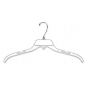"17"" Clear Break-Resistant Plastic Dress Hangers (100-pack)"