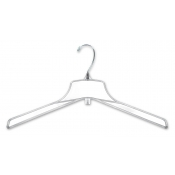 "17"" Clear Break-Resistant Plastic Coat Hangers (100-pack)"