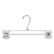 "14"" Junior Clear Plastic Dress Hanger (100-pack)"