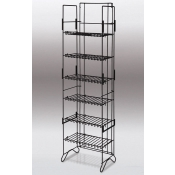 6-Shelf Compact Merchandiser (Black)
