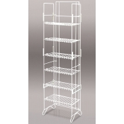 6-Shelf Compact Merchandiser (White)