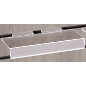 "Acrylic slatwall shelf with 1"" lip"