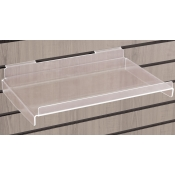Acrylic Slatwall Shelf With Lip