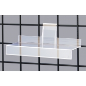 Acrylic Gridwall Shelf With Lip