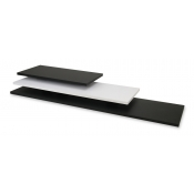 "Black 12"" x 36"" Wood Melamine Shelf"