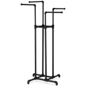 Pipe Rack - Four Way Rack (Matte Black)