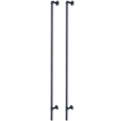 Pipe Rack - Slotted Pipe Outrigger (Matte Black)