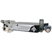 4 Channel Indoor/Outdoor Network Dvr W/ Usb 2.0 Port, 4 Cmos Cameras, 250Gb Sata Hard Drive