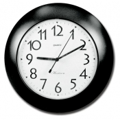 Black & White Clock Camera