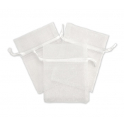 "White Organza Bag - 3""W x 4""H"