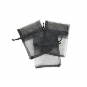 "Black Organza Bag - 2""W x 3""H"