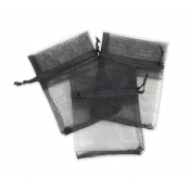 "Black Organza Bag - 3""W x 4""H"