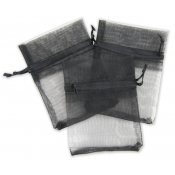 "Black Organza Bag - 5""W x 7""H"