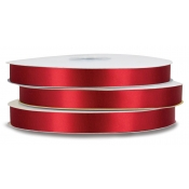 Double-Face Satin Polyester Ribbon (Scarlet)
