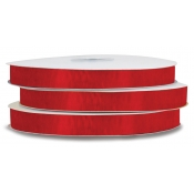 Organza Polyester Ribbon (Red)
