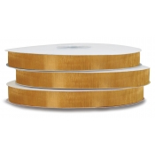 Organza Polyester Ribbon (Pale Gold)
