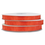 Organza Polyester Ribbon (Torrid Orange)
