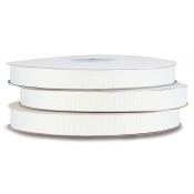 Grosgrain Polyester Ribbon (White)