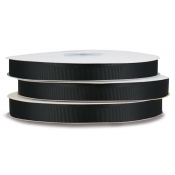 Grosgrain Polyester Ribbon (Black)