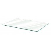 "Clear Tempered Glass Shelf - 10"" X 24"" (5-pack)"