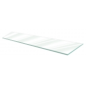 "Clear Tempered Glass Shelf - 14"" X 48"" (5-pack)"
