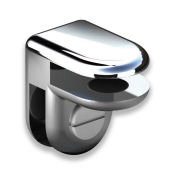 2-Way Glass Cube Clip (Chrome)