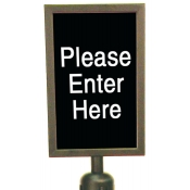 Sign Holder for Crowd Control Stanchion Post