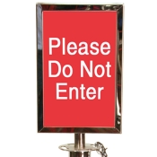 Sign Holder for Classic Crowd Control Rope Stanchion