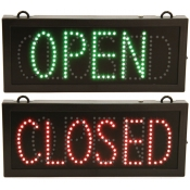 Selectable Open or Closed Sign with Green and Red LED Lights