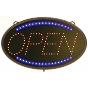 The classic Open Sign with Blue and Red LED Lights