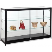 Halogen Lighted Full Vision Showcase (Black)