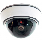 Fake Security Dome Camera with Light
