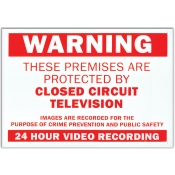 Warning Sign - Video Recording on Premises