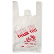 "(White) Thank You Bag 10"" X 5"" X 19"" (1500)"