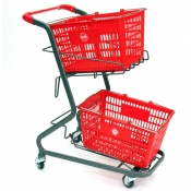 Retail Shopping Cart for Hand-Held Shopping Baskets