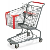 Small Metal Shopping Cart with Bottom Tray (90-Liter)
