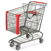 Jumbo Metal Shopping Cart with Bottom Tray (183-Liter)