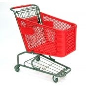Small Plastic Shopping Cart with Bottom Tray (100-Liter)