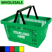 Wholesale Shopping Baskets with Plastic Handles (Standard-Size)