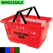 Wholesale Shopping Baskets with Plastic Handles (Jumbo-Size)