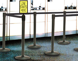 We carry Crowd Control Stanchions for all your public traffic guidance needs
